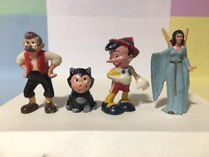 Marx DisneyKings Pinocchio Geppetto Figaro plastic Walt Disney character figures