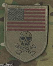 DAESH WHACKER GREEN BERETS SP OPS ADVISORS in MOSUL vel©®😎 PATCH: US Flag Skull