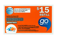 AT&T Go phone $15 Refill PIN - Physical Refill card Top Up 30 Day US Seller ATT