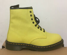 DR. MARTENS 1460 WILD YELLOW VIRGINIA   LEATHER  BOOTS SIZE UK 6