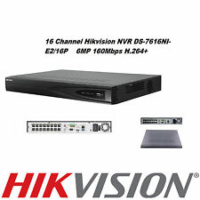 HIKVISION 16 CHANNEL VIDEO RECORDER IP NVR 16 POE 6MP 1080P ONVIF VCA P2P 160MB