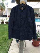 G Star Raw BLUE COTTON BUTTON FRONT LONG SLEEVE JACKET Sz XXL NWT
