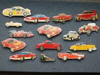 VINTAGE 15 METAL PINS  OLD CARS HOT RODS