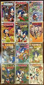 1-SONIC The HEDGEHOG Comic Books #30-41 (12) comics 1996 LOT Complete Set MINT