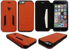 Lamborghini Huracan-D6 Leather-Carbon Fiber Flip Case for iPhone 7/8-Orange
