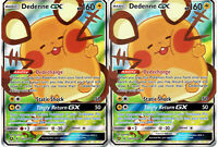 Pokemon Card Lot - x2 Dedenne GX - 195a/214 - Unbroken Bond - Full Art Alternate