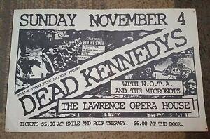 DEAD KENNEDYS CONCERT POSTER PUNK 1984 ORIGINAL Lawrence Ks rare