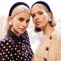 Women's Headband Velvet Padded Hairband Wide Hair Hoop Accessories Headpiece