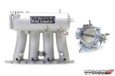 SKUNK2 Intake Manifold Pro Silver+Throttle Body Alpha 70mm H22A1/H22A4
