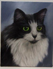 Cute Cat Oil Painting Portrait realism style