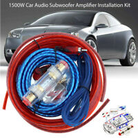1500W Car Truck Audio Subwoofer Amplifier Wiring Complete Installation Kit Set