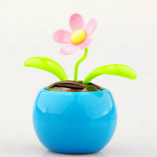 Solar Swing Flower BLUE Car Dashboard Window Balcony Dancing Pot Plant