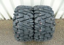 Yamaha Yfm660 Grizzly Duro Power Grip Radial Tyre Rear 25x10-12 2 Pcs