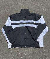 Vintage 90s Black And White Nike Windbreaker Jacket Size Large