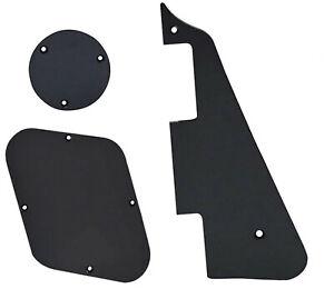 Black Pickguard & Cavity Cover Set Scratchplate For Les Paul LP Type Guitars