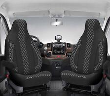 Sitzbezug  passend für AHORN Wohnmobil Caravan in Schwarz Weiß Pilot