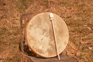 Schamanen Trommel 33cm Rehfell mit Hörprobe - Shaman Drum Roe Deer hide