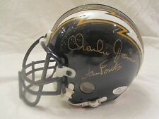 Fouts, Joiner, Winslow Multi - Signed San Diego Chargers Mini Helmet - JSA Cert
