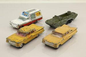 Corgi Toys/Dinky; Bargain Box 4x Assorted Vintage Vehicles; Fair Unboxed