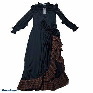Scarlet Darkness Goth Dress L Steampunk Victorian Cosplay Costume Medieval NWT
