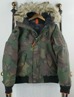 NWT $498 POLO RALPH LAUREN Small Mens Camo Down Filled Annex Bomber Jacket Coat