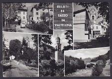 SONDRIO PONTE IN VALTELLINA 04 Fraz. SAZZO - SALUTI Cartolina FOTOG. viagg 1970