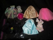 Vintage lot of MATTEL BARBIE GOWNS Dresses DANCE Skirts  Doll accessories #34