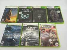 New ListingLot of 7 Microsoft Xbox 360 Video Games Halo3 Mass Effect Skyrim Dishonored