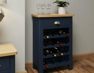 Oak City - Dorset Painted Blue Oak Wine cabinet