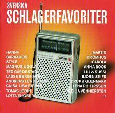 2 CD Svenska Schlagerfavoriter Melodifestivalen,Eurovision,Hits Schweden Sweden