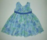 NEW NWT TODDLER GIRLS GYMBOREE FAMILY BRUNCH BLUE FLORAL BOW DRESS SET 18-24 M