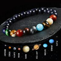 Men Women Natural Stone Beads Lava Rock Bracelet Elastic Yoga Beads Bracelets