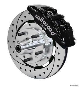 """Wilwood 70-78 Camaro Firebird Front Disc Big Brake Kit 12.19"""" Drill Rotor Black"""
