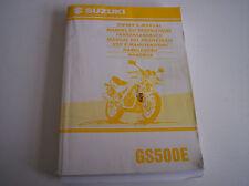 Fahrerhandbuch Bedienungsanleitung Suzuki GS 500E in EN/FR/GE/DU/IT/SP BJ 98/99