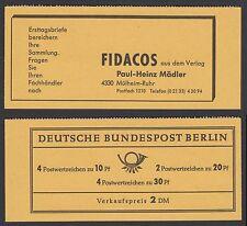 Berlin Markenheftchen 5 a  RLV VI b ** Brandenburger Tor 1966   Ungeöffnet!!