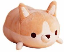 FlorisHome Cute Funny Corgi Dog Shaped Plush Pillows Soft Toys Doll Vent