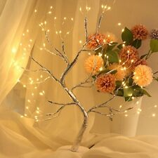 Fairy Light Spirit Tree Sparkly Copper Wire Garland Lamp LED Tree Light Holiday