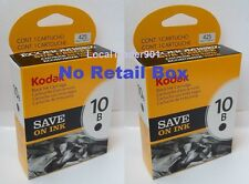 2 Kodak Black Ink Inkjet Cartridges 10 10B Multi-Pack OEM Genuine no retail box