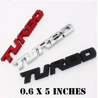 Large 3D turbo Letter Emblem Badge Metal Chrome Sticker For Car Truck Decal