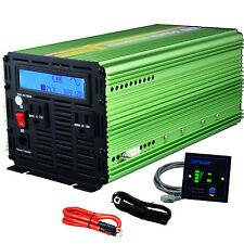 Car Power Inverter 1500W 3000Watt Pure Sine Wave 24V dc to 110V 120V ac LCD
