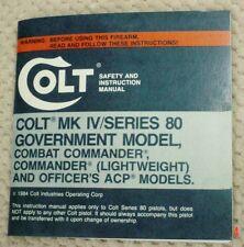 Colt Mk Iv Government Model, Combat Commander Lw Officers Model Series 80