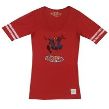 Spider-Man Classic Pose Marvel Distressed Retro Brand Junior T-Shirt Size S