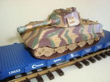 USA Trains Flatcar and King Tiger Motorized Battery Powered 1/32 Tank Kit NEW