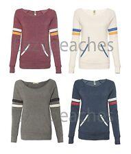 Alternative NEW S-XL Ladies Maniac Sport Eco Fleece Pocket Sweatshirt Apparel