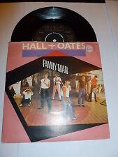 "HALL & OATES - Family Man - 1983 UK 2-track 7"" Vinyl Single"