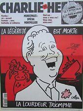 CHARLIE HEBDO No 453 FEVRIER 2001 CABU CHARLES TRENET LA LEGERETE EST MORTE