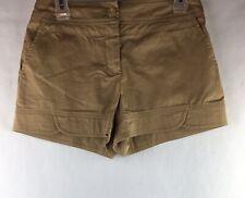 Trina Turk Women's Size 4 Shorts Khaki Flat Front 3 Inch Inseam Pockets