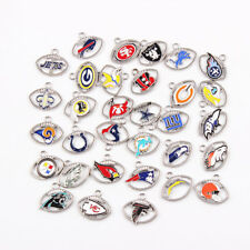 32pcs/lot 32 Teams Mixed American Football Charms Pendant Jewelry making Sport