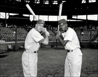 Ernie Banks Duke Snider Photo 8X10 Chicago Cubs Brooklyn Dodgers Ebbets Wrigley