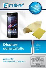 3+3x Sony Xperia Z1 Compact Protector de Pantalla protectores transparente